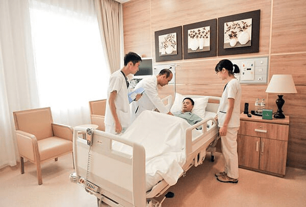 doctors are checking patient
