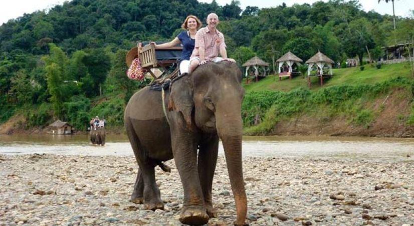 LUANG PRABANG BICYCLE TOUR TO ELEPHANT CAMP & KHMU VILLAGE