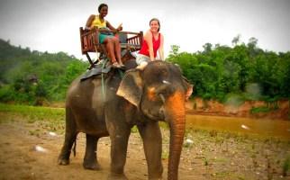 Luang Prabang biking & elephant riding - Laos biking tours
