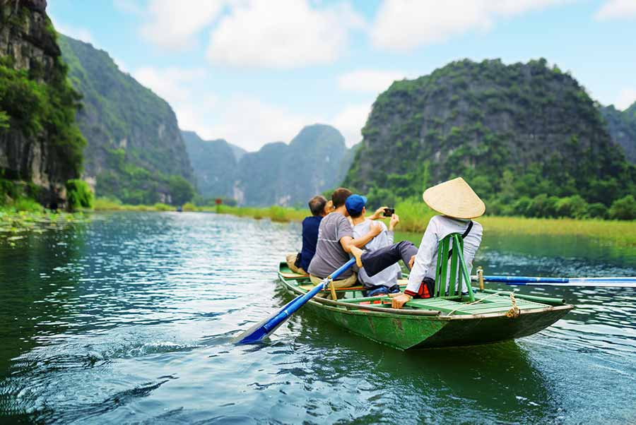 A boat tour in vietnam nature