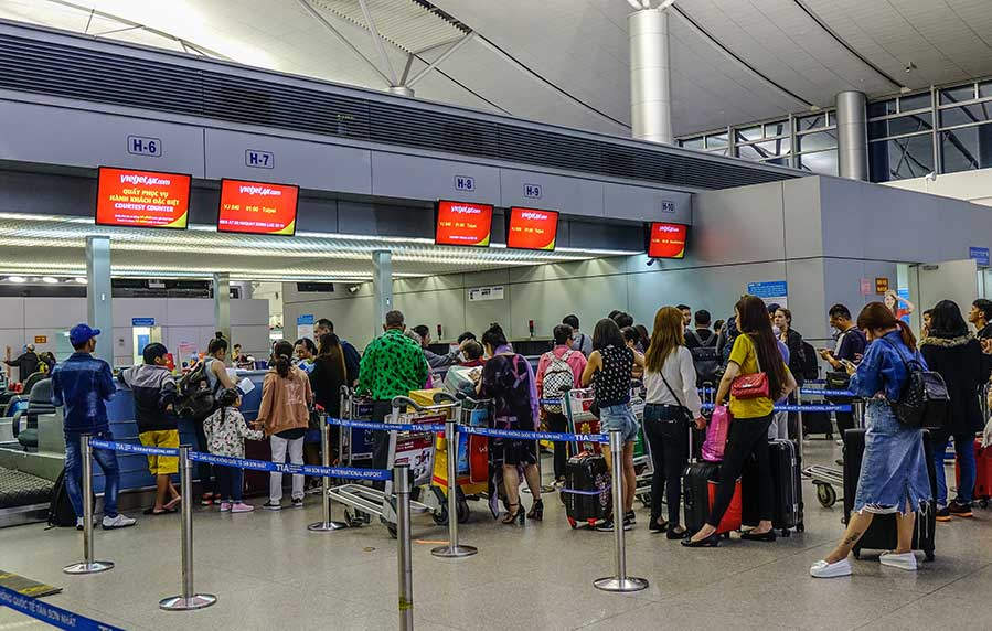 Check-in counters of Tan Son Nhat airport