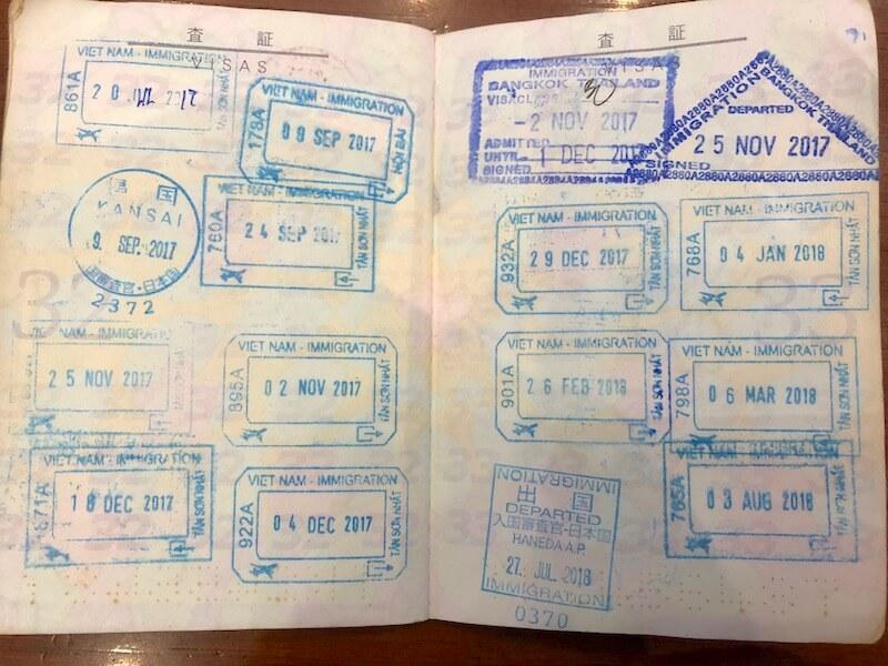 ベトナム-イミグレーション-出入国スタンプ