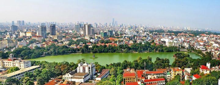 Hoan Kiem Lake & Skyline - Hanoi, Vietnam