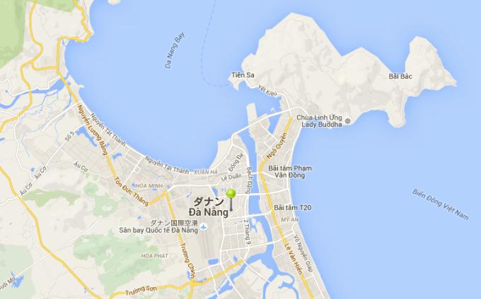 ベトナム ダナン 地図