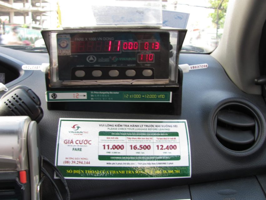 Счетчик во вьетнамском такси