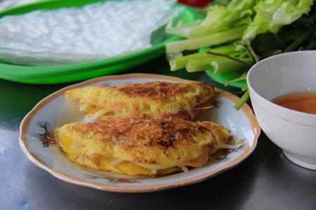 Banh Xeo or Vietnamese sizzling pancakes