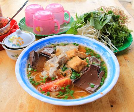 Bun Rieu Cua or Vietnamese Crab Noodle Soup