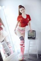 anh hotgirl sexy ung ho doi tuyen nga tai euro 2016 03