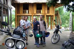 bike1 - HANOI MOTORCYCLE TOUR TO BA BE LAKE AND BAN GIOC WATERFALL