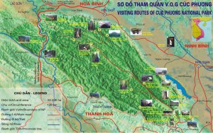 02.map of cucphuong 300x188 - One Day Hanoi Motorbike Tour to Cuc Phuong National Park