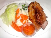 Vietnamese roasted pork with fresh salad