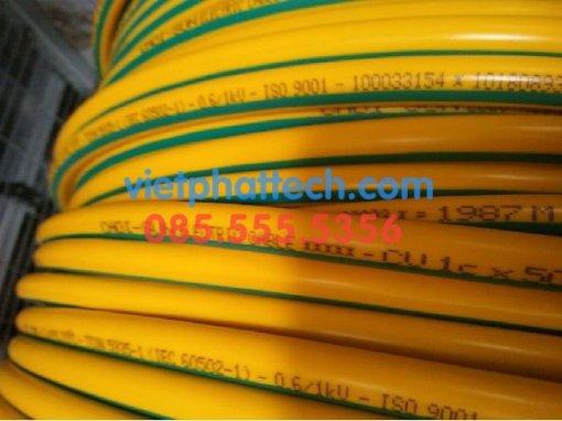 Dây tiếp địa vàng xanh M50, dây điện 1x50mm2