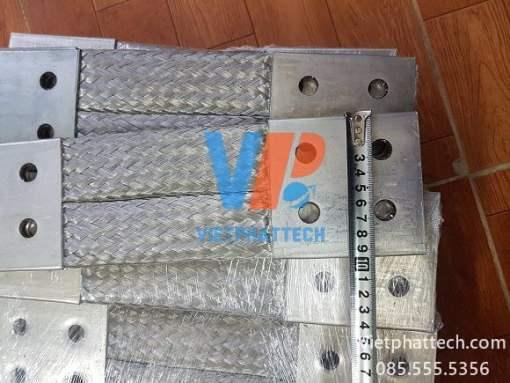 Thanh nối đồng bện 350x100x10mm cho máy bến áp 10