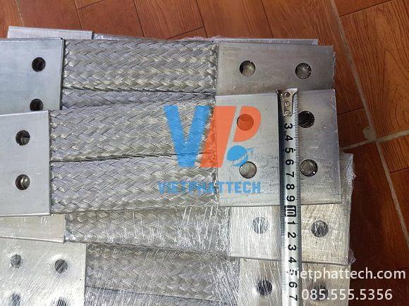Thanh nối đồng bện 350x100x10mm cho máy bến áp 34