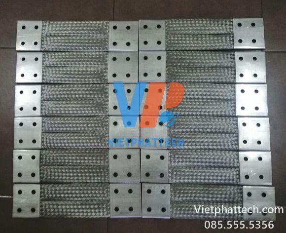 Thanh nối đồng bện 350x100x10mm Việt Phát tech