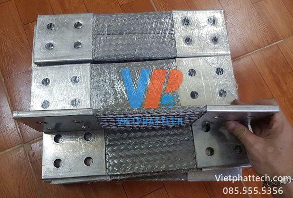 Thanh nối đồng bện 350x100x10mm cho máy bến áp 42