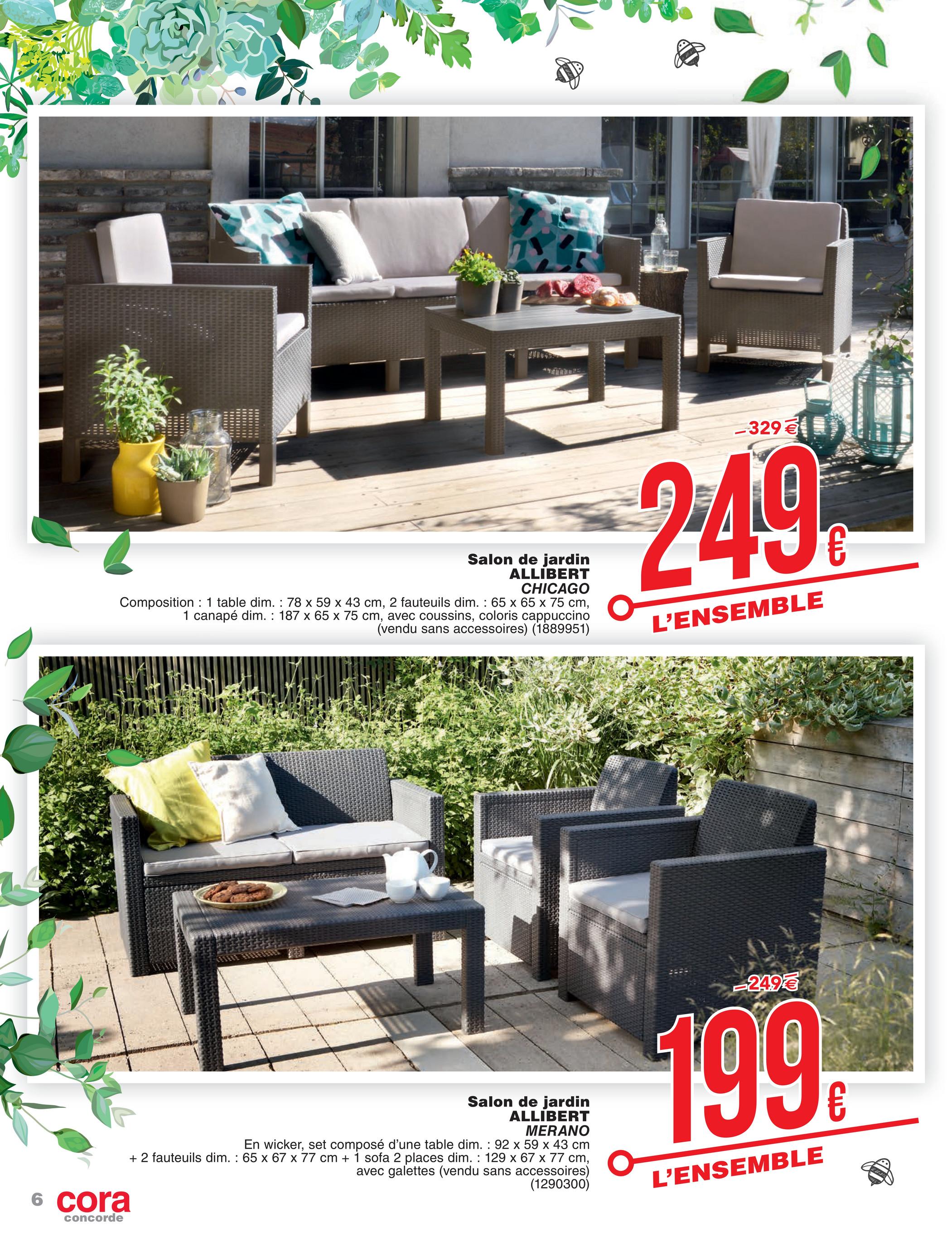 cora fr 2603 mobilier de jardin a