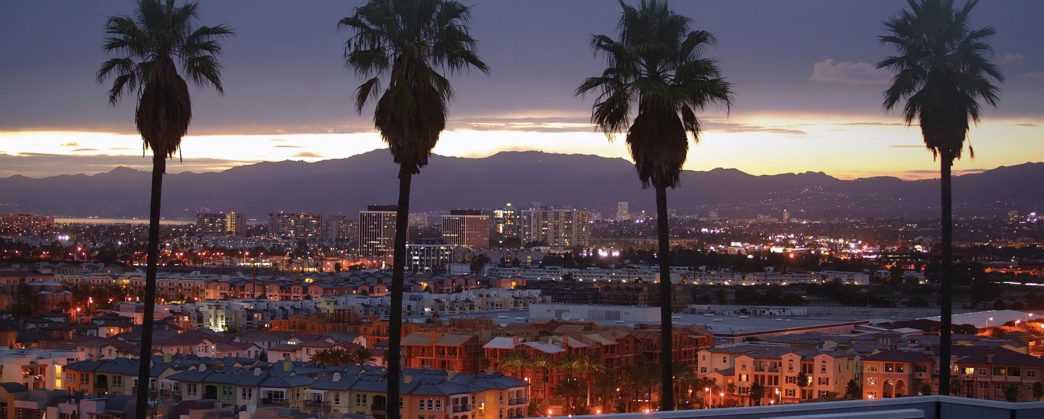 LA landscape at night.