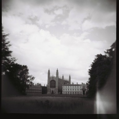 Cambridge: The famous view of King's College.