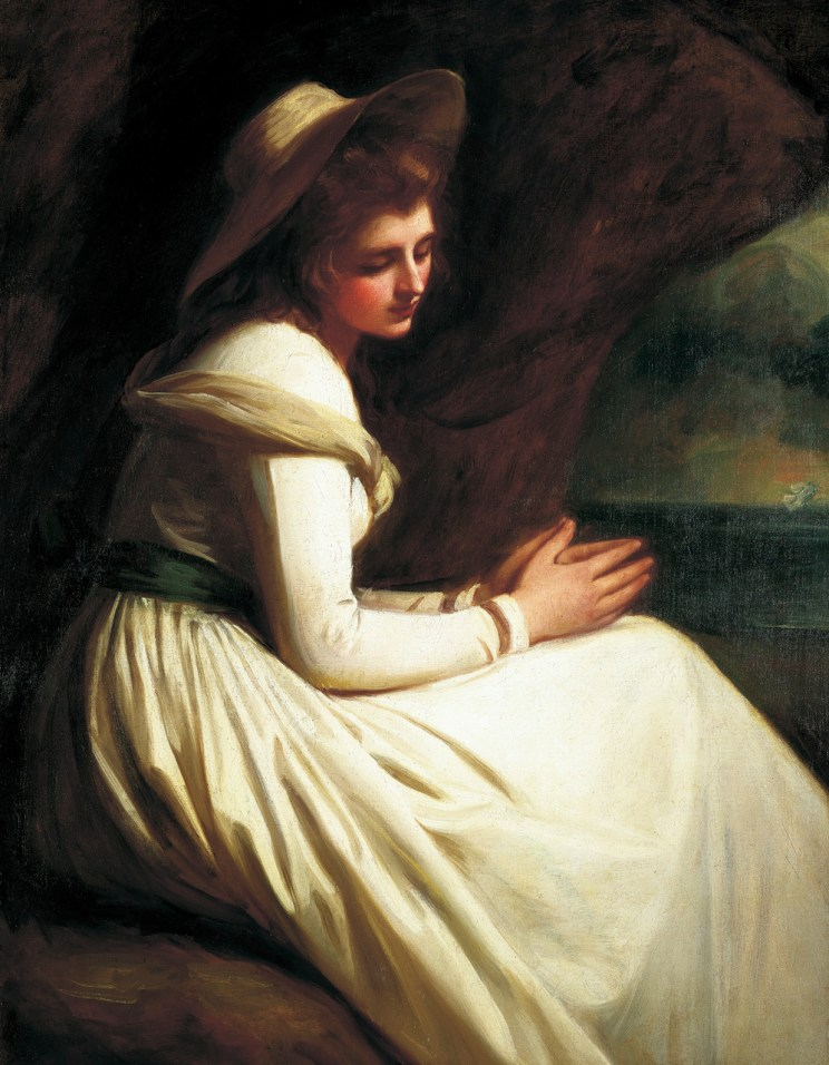 Emma Hart (aka Hamilton) in a Cavern, Romney, 1782-5, National Portrait Gallery
