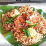 Pad thai on bannan leaf at Zion Thai in Accra, best restaurants in accra