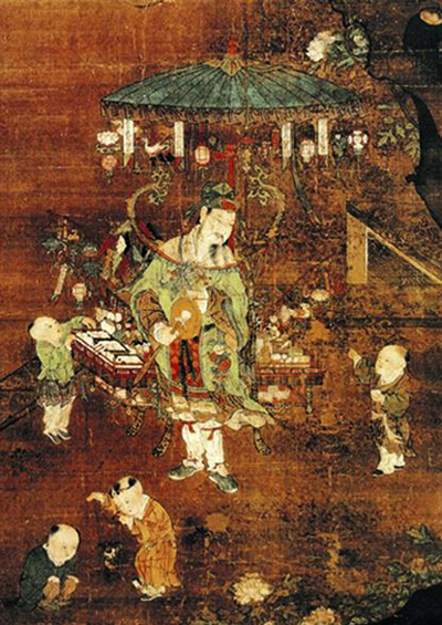 A Chinese street vendor in the 15th century
