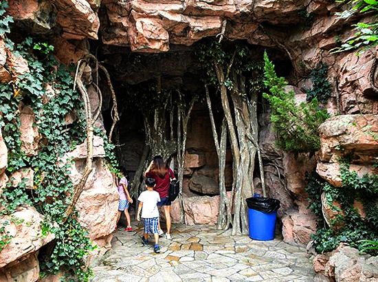 A Chinese public toilet looks like a cave