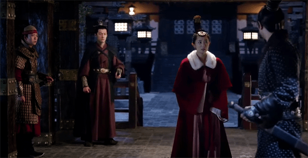 A maid from Prince Jing's mother meeting with his general