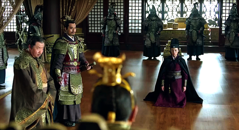 Xiao Dong being interrogated before the throne