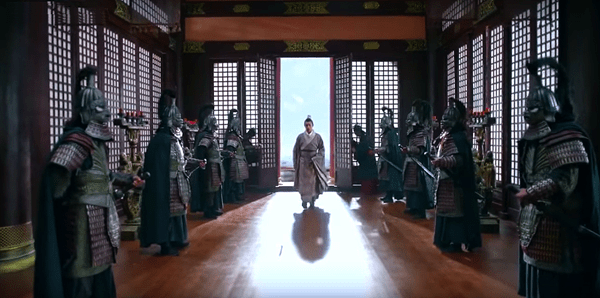 Mei Changsu coming to face the emperor's interrogation