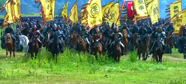 Prince Yu leading his troops
