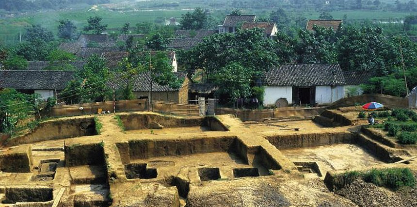 One of the Liangzhu archaeological sites