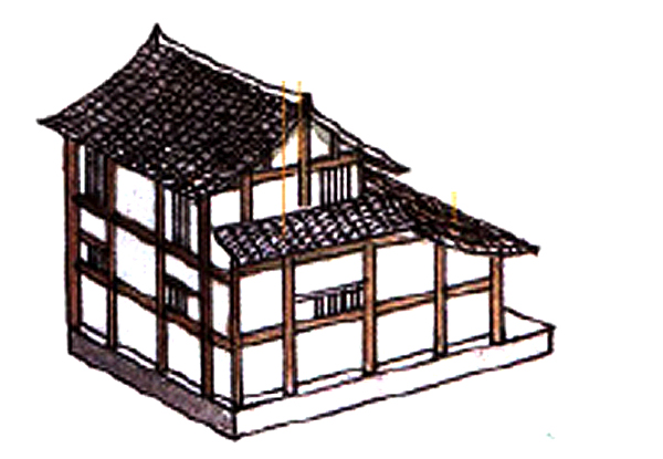 Traditional Chinese multi-hip roof