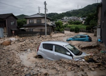 One dead, 810,000 ordered to evacuate as storm hits Japan