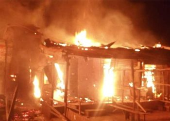 Early morning fire razes shops in Ilesa market