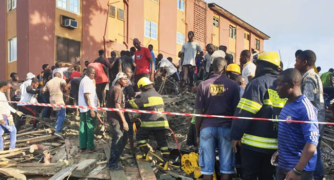 Building collapses in Obalende Lagos