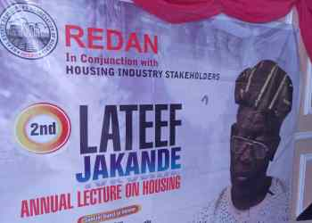 REDAN holds 2nd Lateef Jakande housing lecture series.