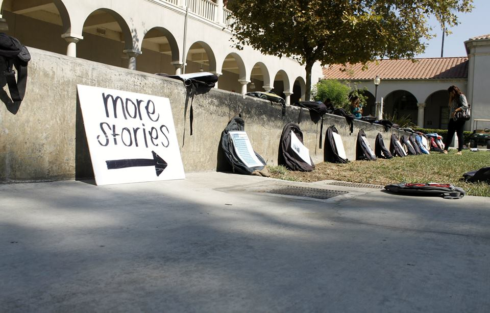 Active Minds hosted the event Send Silence Packing at the Riverside City College Quad. (Luis Solis / Asst. Photo Editor)