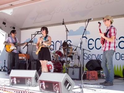 Riverside band Summer Twins perform at the Fireball Run in Downtown Riverside amongst many local fans, old and new.