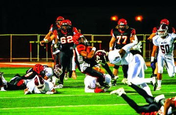 STUFFED: The Riverside City College backfield rushed for a 118 total yards on offense against Mt. San Antonio in the SCFA Title Game. (Luis Solis   Photo Editor)