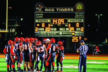 HOME FIELD: The Riverside City College Tigers entered the SCFA Championship Game as the No. 1 ranked football team in the state. (Luis Solis   Photo Editor)