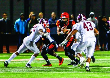 REVENGE: The Mt. SAC Mounties returned for a second meeting against the RCC Tigers at Wheelock Stadium, in which the Mounties produced a different outcome. (Luis Solis   Photo Editor)