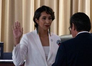 Clarissa Cervantes, Chuck Conder and Jim Perry take Oath of Office for Riverside City Council