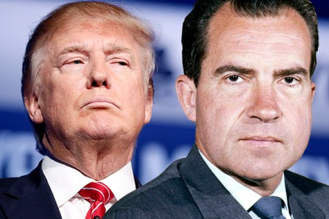 Trump and Nixon side by side