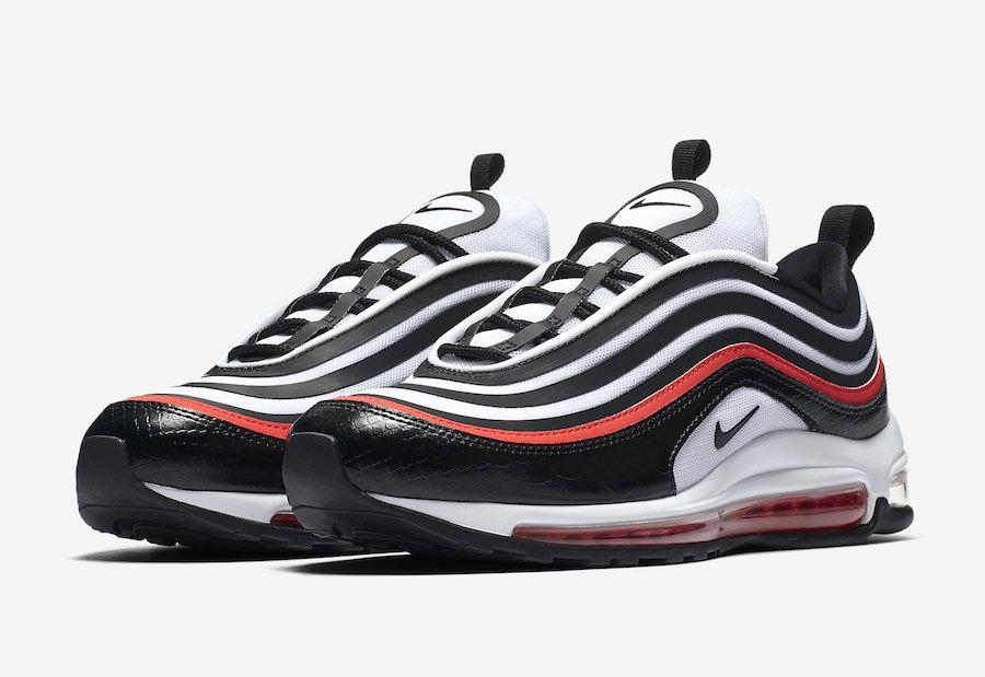 La Nike Air Max 97 s'habille de noir serpent et de rouge éclatant ...