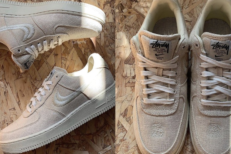 nike air force 1 stussy sneakers collaboration AF1