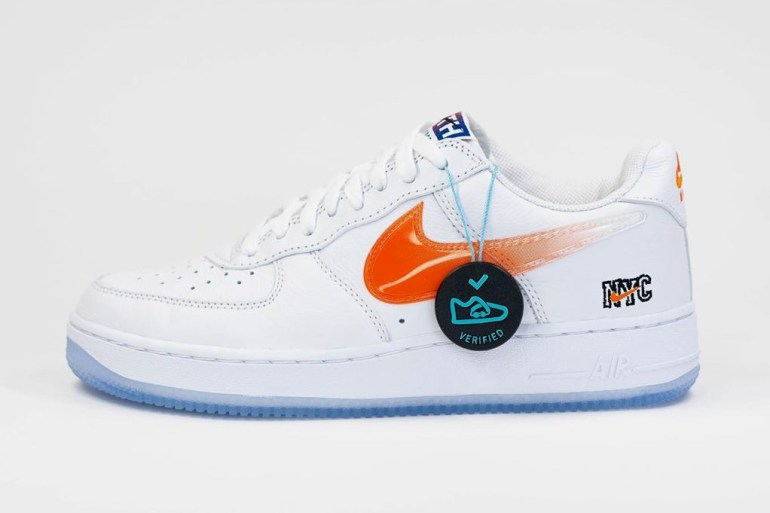 nike air force 1 low kith sneakers new-york af1