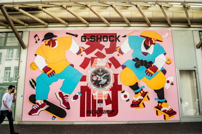 g-shock fresque