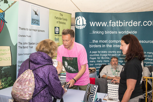 Chris Packham signing books on our stand
