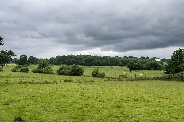 Grey and Overcast - Views over Buckinghamshire to Whaddon Hall
